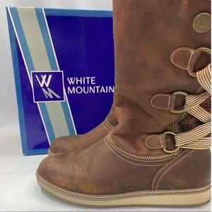 White Mountain/ brown winter boot